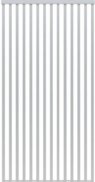YKKAPアルミインテリア スクリーンパーティション[間仕切] 固定タイプ格子調デザイン(アルミ枠) 4.5尺 アルマイト:[幅1299mm×高2143~2442mm] YKK 室内イ