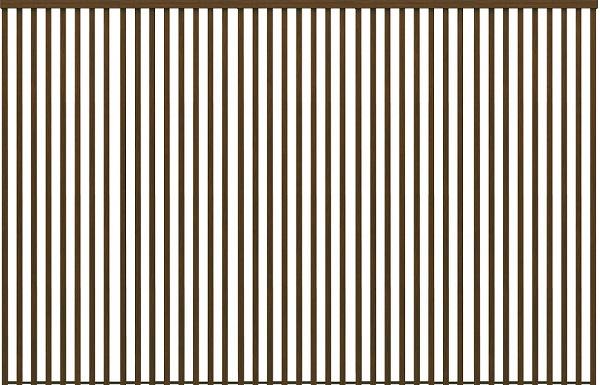 YKKAPアルミインテリア スクリーンパーティション[間仕切] 固定タイプ格子調デザイン(アルミ枠) 15尺 ラミネート:[幅3729mm×高2143~2442mm] YKK 室内イン