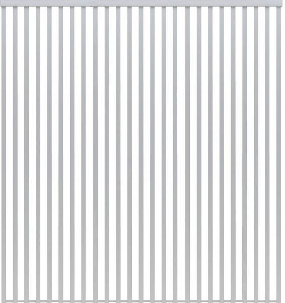 【まとめ買い】 YKKAPアルミインテリア スクリーンパーティション[間仕切] 固定タイプ格子調デザイン(アルミ枠) 9尺 アルマイト:[幅2559mm×高2143~2442mm] YKK 室内イン, 豊町 0592af50