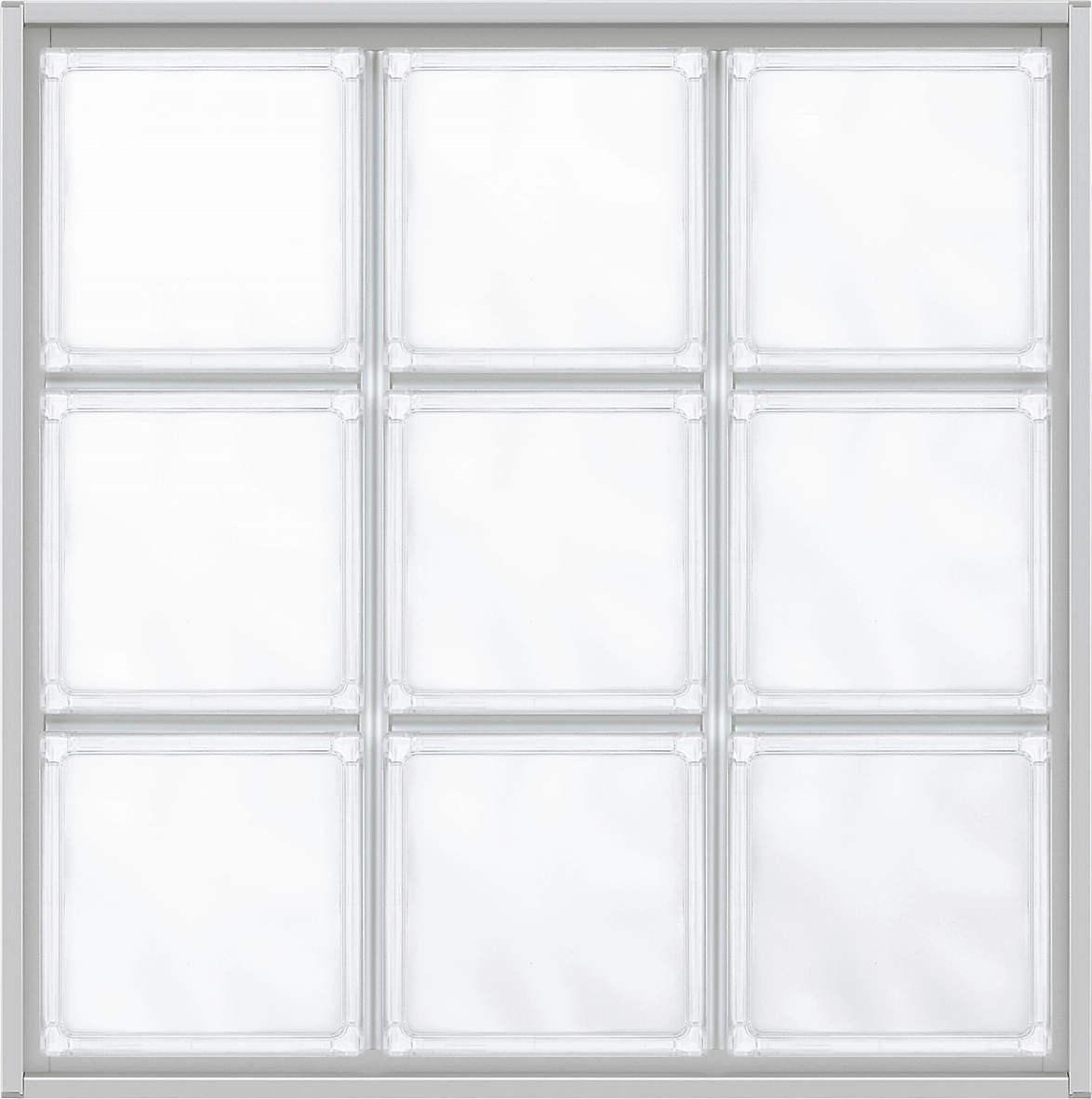 YKKAPアルミインテリアスクリーンパーティション[採光ユニット]アクリルブロックFIX呼称幅161(幅1616mm)ブロック横10列:[幅1616mm×高1628mm]