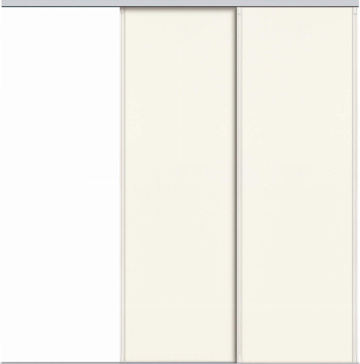 YKKAPアルミインテリア スクリーンパーティション[間仕切] 片引き戸2枚建(アルミ枠) P8タイプ:[幅1740~2604mm×高2143~2442mm]【YKK】【室内インテリア】【サッシ】【片引戸】【室内引き戸】【パーテーション】【パーテイション】【アルミ建具】【バリアフリー】