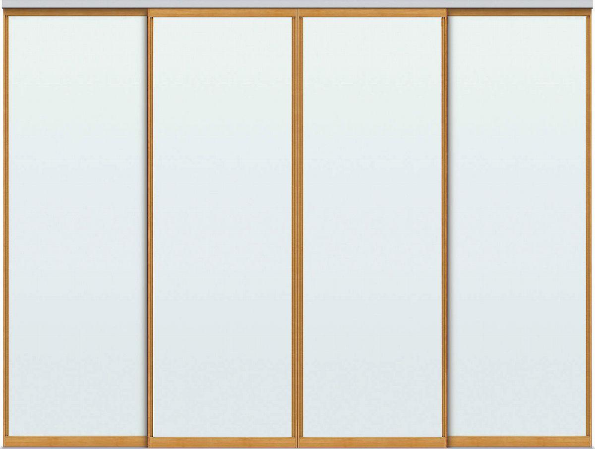 YKKAPアルミインテリア スクリーンパーティション[間仕切] 引違い4枚建(アルミ枠) MAタイプ:[幅2328~3508mm×高2143~2442mm]【YKK】【室内インテリア】【サッシ】【引き違い】【室内引き戸】【パーテーション】【パーテイション】【アルミ建具】【バリアフリー】