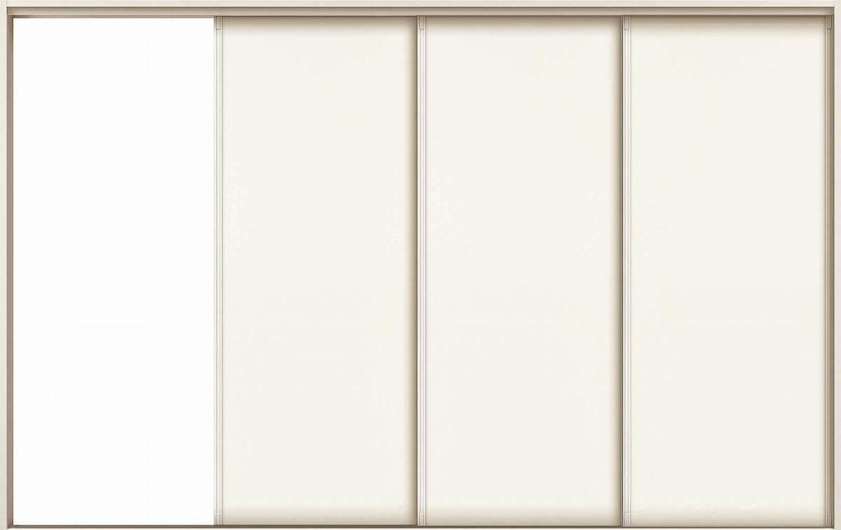 YKKAPアルミインテリア スクリーンパーティション[室内引戸] 片引き戸3枚建(木質枠) P8タイプ ノンケーシング枠:[幅2312~3900mm×高1658~2458mm]【YKK】【YKKパーティション】【YKKパーテーション】【パーテーション】【アルミパーティション】【アルミ引き戸】【室内
