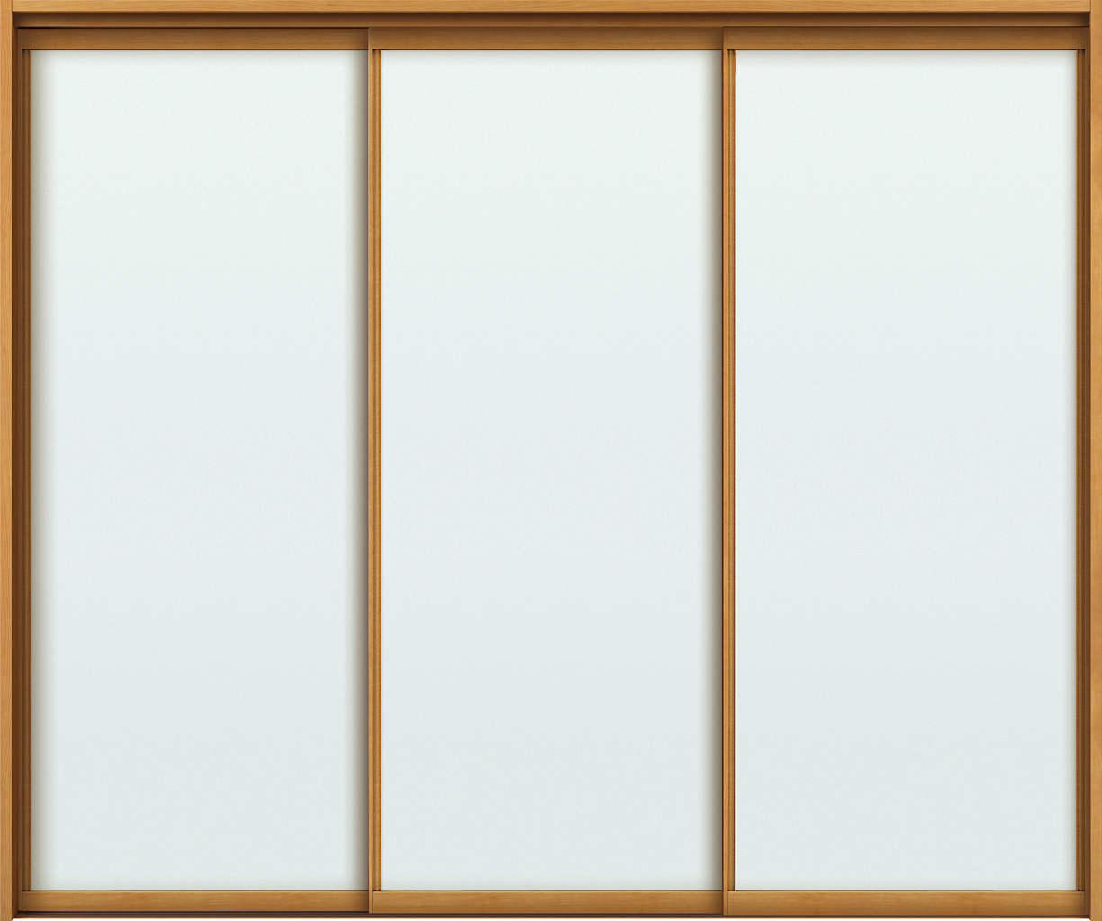 YKKAPアルミインテリア スクリーンパーティション[室内引戸] 引違い戸3枚建(木質枠) MAタイプ ノンケーシング枠:[幅1750~3291mm×高1658~2458mm]【YKK】【YKKパーティション】【YKKパーテーション】【パーテーション】【アルミパーティション】【アルミ引き戸】【室内
