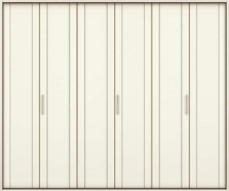 YKKAP収納 クローゼットドア 3枚折戸 JA ノンケーシング枠[三方枠]:[幅2553mm×高2333mm]