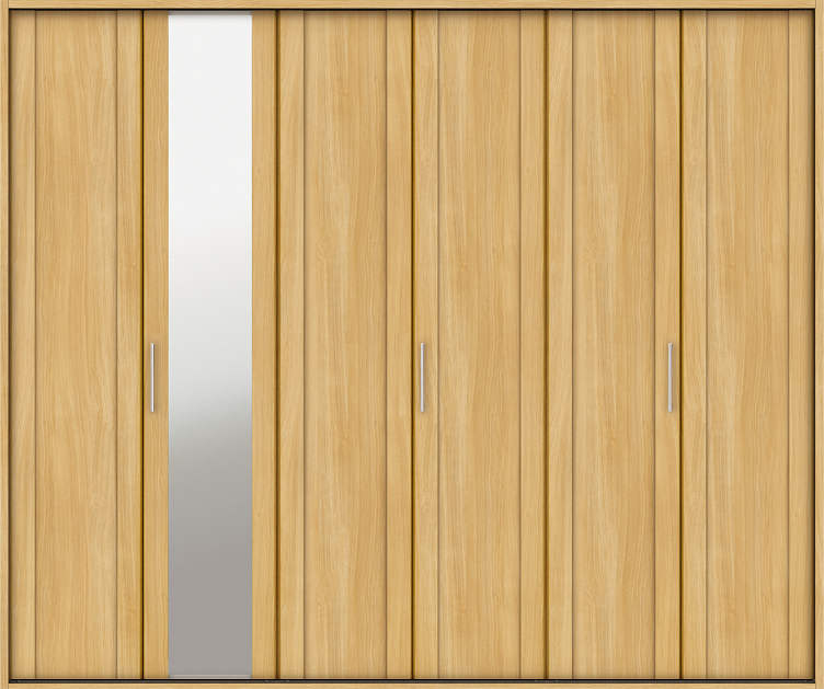 YKKAP収納 クローゼットドア 3枚折戸 JM ケーシング枠[四方枠]:[幅2445mm×高2045mm]