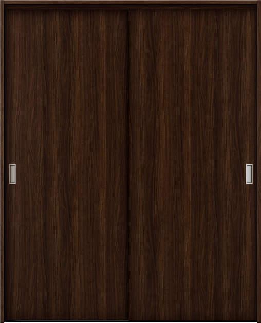 YKKAP収納 クローゼットドア 2枚引違い戸 TA ノンケーシング枠[四方枠]:[幅1643mm×高2045mm]