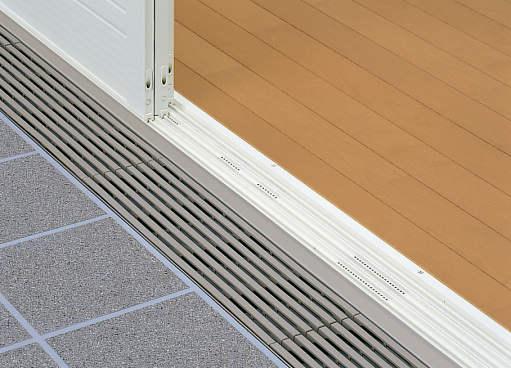 YKKAPオプション 浴室出入口 ドアリモ浴室:グレーチングユニット+排水溝[W16用][幅1664mm]