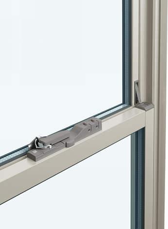 YKKAPオプション窓サッシ装飾窓フレミングJ:片上げ下げ窓用ボタン錠付クレセント