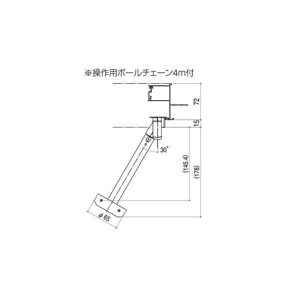 YKKAPオプション窓サッシ装飾窓フレミングJ:ガラスルーバー用高窓用オペレータユニット[大]