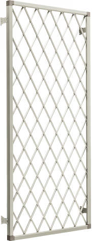 YKKAPオプション 窓サッシ 出窓 フレミングJ:面格子[ラチス格子][幅2600mm×高970mm]