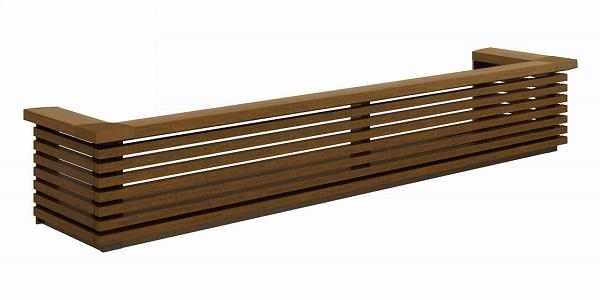 YKKAP窓まわり フラワーボックス ルシアス 横ストライプ 高さ333:出幅:413mm[幅1353mm]