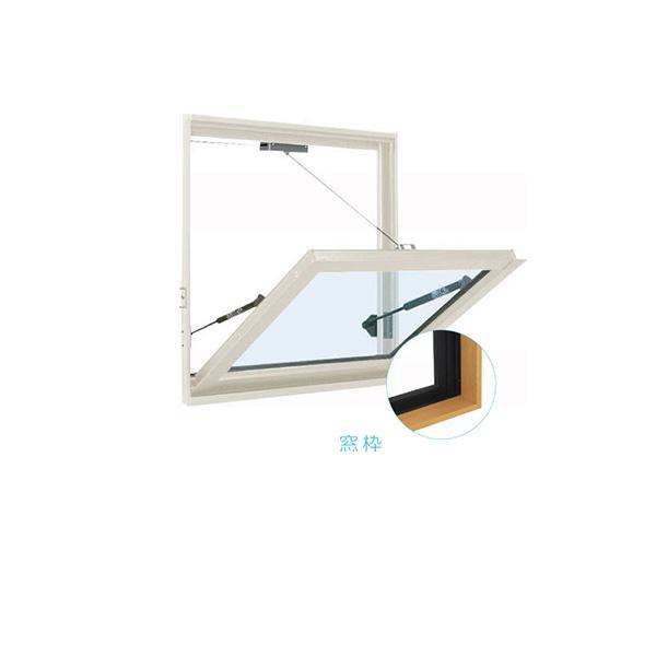 YKKAP窓サッシ 装飾窓 フレミングJ[単板ガラス][セット品] 外倒し窓 排煙錠仕様:サッシ・窓枠セット[幅640mm×高770mm]