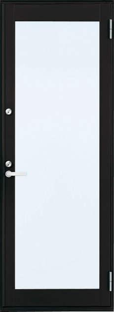 YKKAP勝手口 框ドア フレミングJ仕様 複層ガラス[2シリンダー仕様] 全面ガラスタイプ:[幅640mm×高1830mm]【ykk】【YKK勝手口ドア】【ドア】【アルミサッシ】【サッシ】【ペアガラス】【フロア収まり】