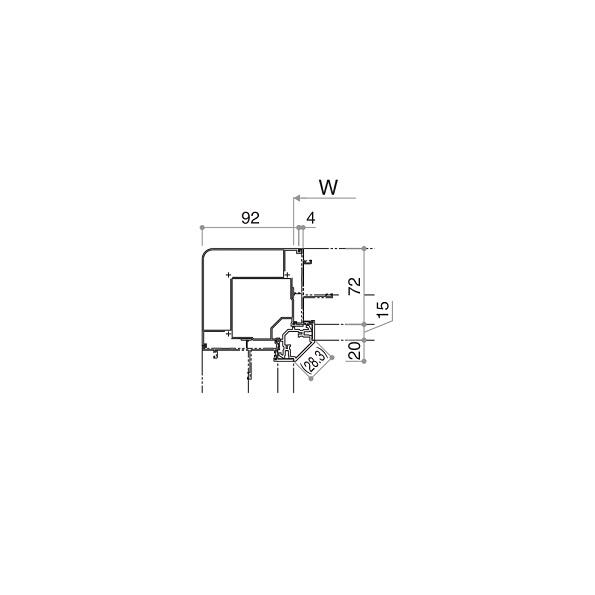 YKKAP窓サッシ オプション フレミングJ 連窓方立 90°方立:[高1570mm]