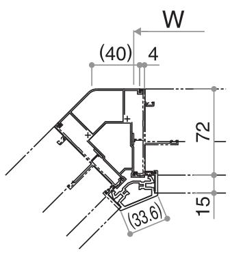 YKKAP窓サッシ オプション フレミングJ 連窓方立 135°方立:[高1830mm]