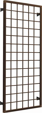 YKKAP窓サッシ オプション フレミングJ 面格子 井桁格子[引き違い窓用]:[幅1370mm×高770mm]