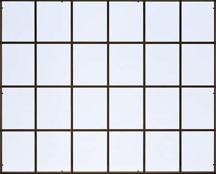 YKKAP窓サッシ オプション フレミングJ 装飾格子XAK 引き違い窓4枚建[単板ガラス]用: