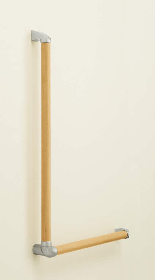YKKAP安全バー手すり セット品:L型手すりセット[径35mm×長さ795mm(2本)]【YKK】【YKK手摺り】【YKK手すり】【階段手すり】【階段手摺り】【屋内手すり】【トイレ手すり】【手摺】【手すりバー】