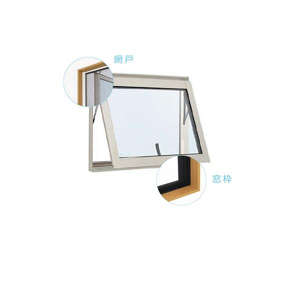YKKAP窓サッシ 装飾窓 エピソード[複層ガラス][セット品] すべり出し窓 カムラッチハンドル仕様:サッシ・窓枠・網戸セット[幅780mm×高370mm]