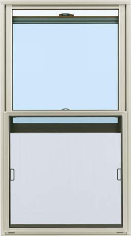 YKKAPオプション窓サッシ装飾窓エピソード:上下スライドクリアネット網戸[幅726mm×高508mm]