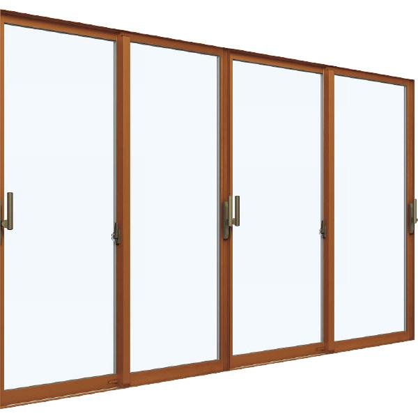 YKKAP窓サッシ 引き違い窓 エピソード[複層ガラス] 4枚建[下枠ノンレール] サポートハンドル[キックプレート無]:[幅3510mm×高2230mm]【YKK】【窓サッシ】【引違い窓】