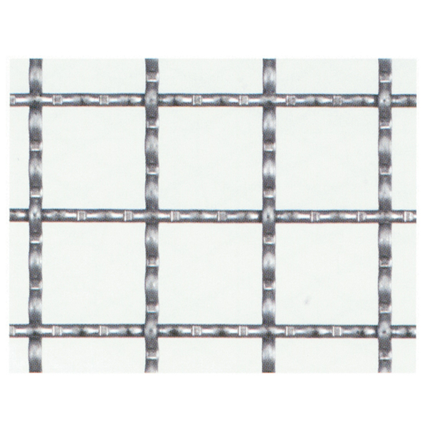 産業用金網 亜鉛引クリンプ金網:径2.0mm×10mm目 910mm×15m【亜鉛メッキ】