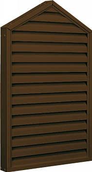 屋根裏から新鮮な空気を取入れ 湿気を追放します 網付きなので 虫や鳥なども入れません YKKAP窓サッシ 推奨 コンセプト窓 エアルーバー 外付型 ホームベースタイプ 38.7°勾配 YKKアルミサッシ 妻屋根 幅372mm×高802mm : 換気ガラリ 枠見込み65ミリ プレゼント サッシ 屋根裏換気 YKK 固定がらり