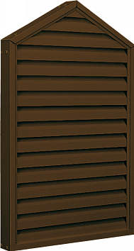 屋根裏から新鮮な空気を取入れ 予約販売 湿気を追放します 網付きなので 虫や鳥なども入れません YKKAP窓サッシ コンセプト窓 エアルーバー 外付型 ホームベースタイプ 45.0°勾配 期間限定送料無料 : 固定がらり サッシ 枠見込み65ミリ 妻屋根 幅372mm×高802mm 換気ガラリ 屋根裏換気 YKK YKKアルミサッシ