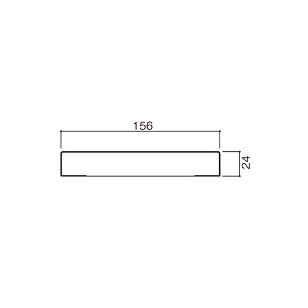 YKKAP造作材 無目枠 ノンケーシングタイプ 156mm見込 たて材:長さ3900mm[幅3900mm]