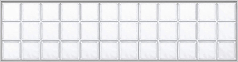 YKKAPアルミインテリア スクリーンパーティション[採光ユニット] アクリルブロックFIX(アルミ枠) 呼称幅192(幅1920mm)ブロック横12列:[幅1920mm×高564mm]【YKK】【室内インテリア】【サッシ】【パーテーション】【パーテイション】【ガラスブロック】【間仕切】【145ミ