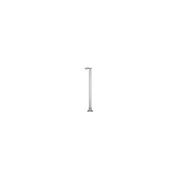 リフォーム用品 バリアフリー 屋外用手すり フリーRレール:マツ六 遮断機式受側ベースプレート式支柱(角度調整付)