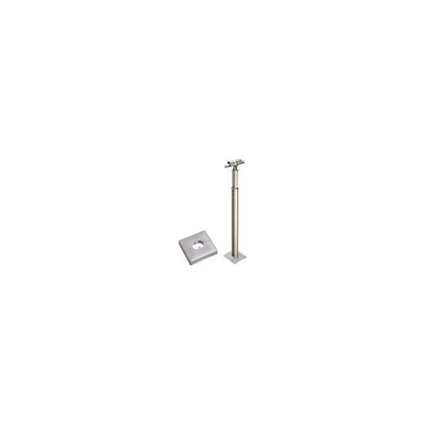 リフォーム用品 バリアフリー 屋外用手すり アプローチEレール:積水樹脂 コーナー支柱 ベースプレート式 カバー付