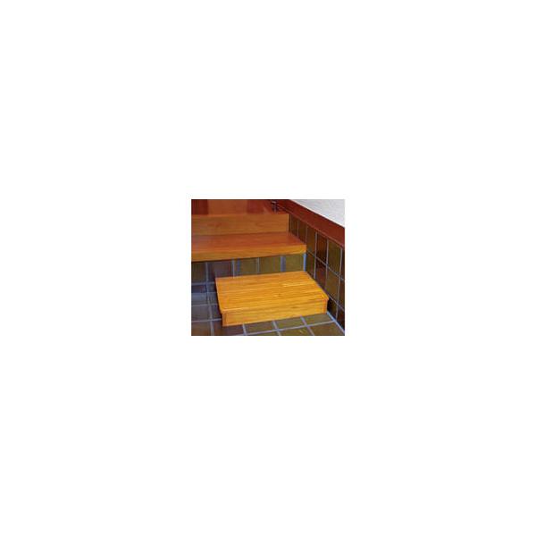 リフォーム用品 バリアフリー 玄関 木製踏台:マツ六 木製踏台 DX 1段 12