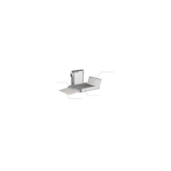 リフォーム用品 バリアフリー 屋外 リフト:花岡車輌 スマートリフトE-120用オプション 自動ブリッジ