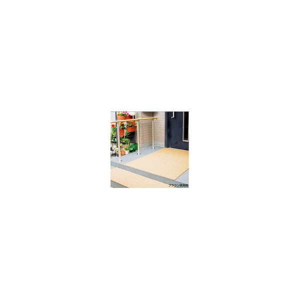 リフォーム用品 バリアフリー 屋外 滑り止め:日東化工 クッションマット レンガ