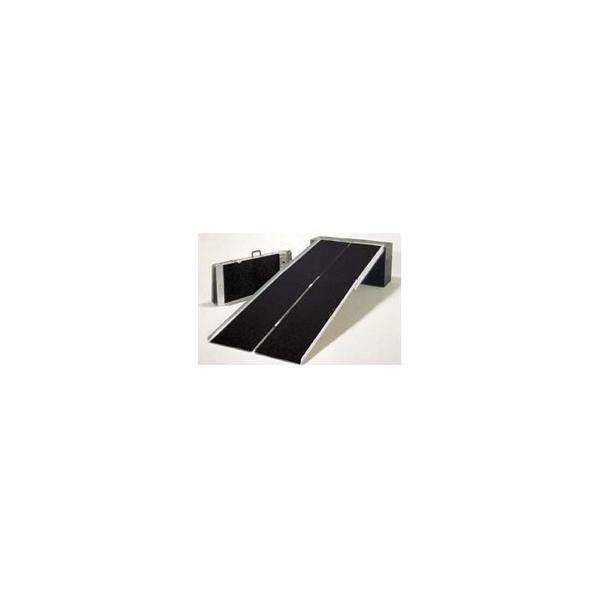 リフォーム用品 バリアフリー 屋外 スロープ:イーストアイ ポータブルスロープPVW アルミ4折式 全長3050mm