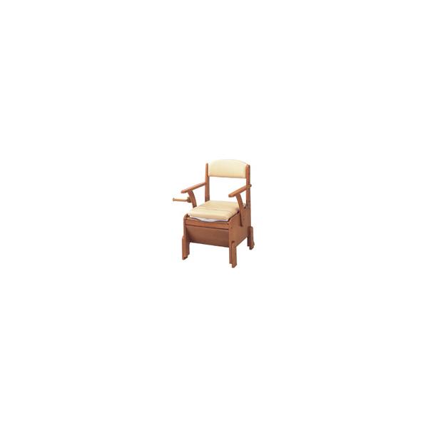 リフォーム用品 バリアフリー 寝室・居間 ポータブルトイレ:アロン化成 安寿 家具調トイレ コンパクト キャスター付