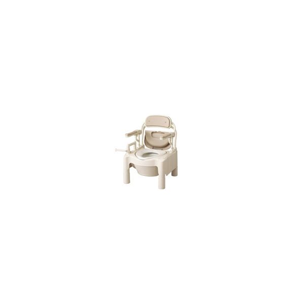リフォーム用品 バリアフリー 寝室・居間 ポータブルトイレ:アロン化成 安寿 ポータブルトイレ FX-CP はねあげ