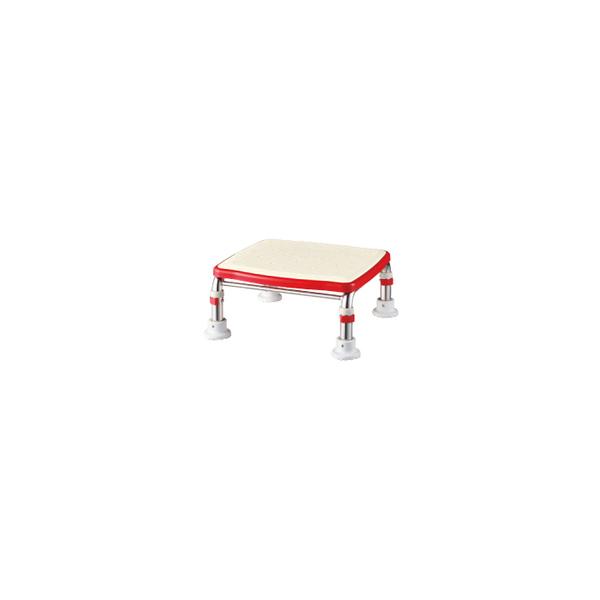 リフォーム用品 バリアフリー 浴室・洗面所 入浴介護用品:アロン化成 ステンレス製浴槽台R ジャストタイプ15-20 すべり止めシートタイプ レッド