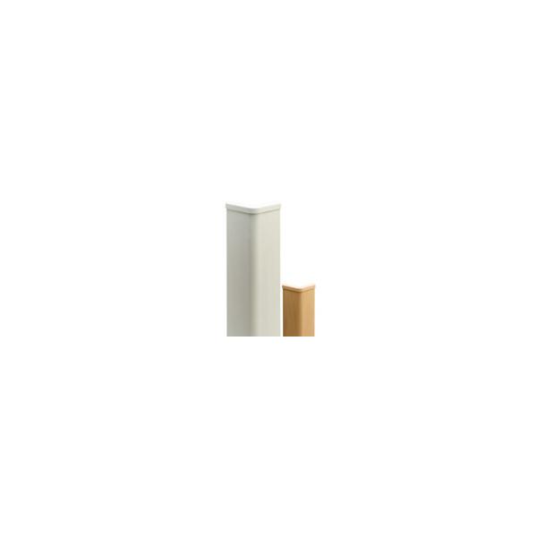 リフォーム用品 バリアフリー 階段・廊下 クッション材:ナカ工業 セフティーコーナーソフト 1m アイボリーホワイト
