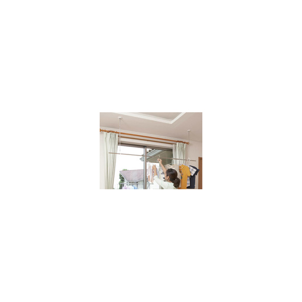 リフォーム用品 建築資材 物干 室内用物干:川口技研 ホスクリーンSPC型 ホワイト 460・550・640mm