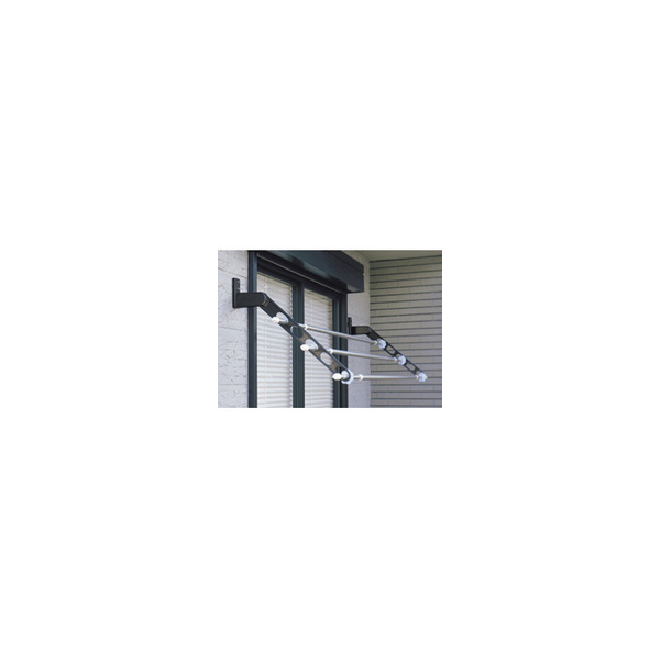 リフォーム用品 建築資材 物干 屋外用物干:川口技研 ホスクリーン HKL型 ホワイト 844mm