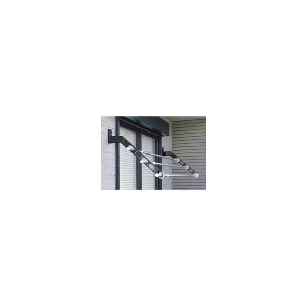 リフォーム用品 建築資材 物干 屋外用物干:川口技研 ホスクリーン HKL型 ブラック 844mm