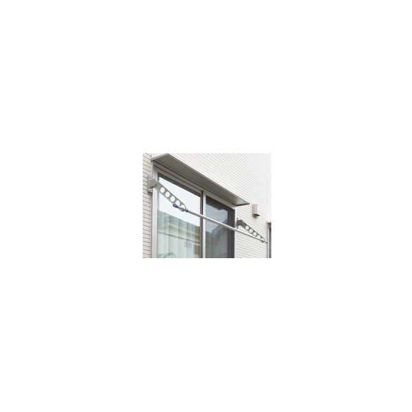 リフォーム用品 建築資材 物干 屋外用物干:川口技研 ホスクリーン RK型 ピュアホワイト 650