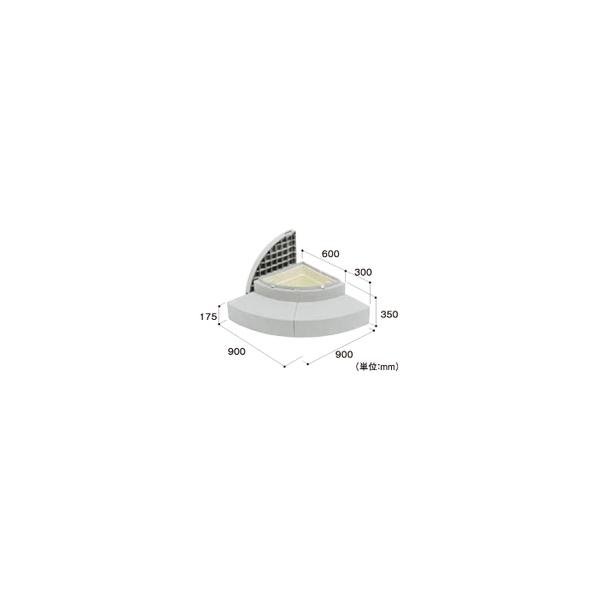 リフォーム用品 建築資材 外まわり 屋外用ステップ・柱受金物:Joto ハウスステップRタイプ 収納庫なし 15.4kg
