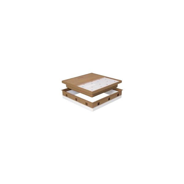 リフォーム用品 建築資材 点検口・床下 天井・壁・床下点検口:Joto 高気密型床下点検口 断熱型 ミディアムブラウン