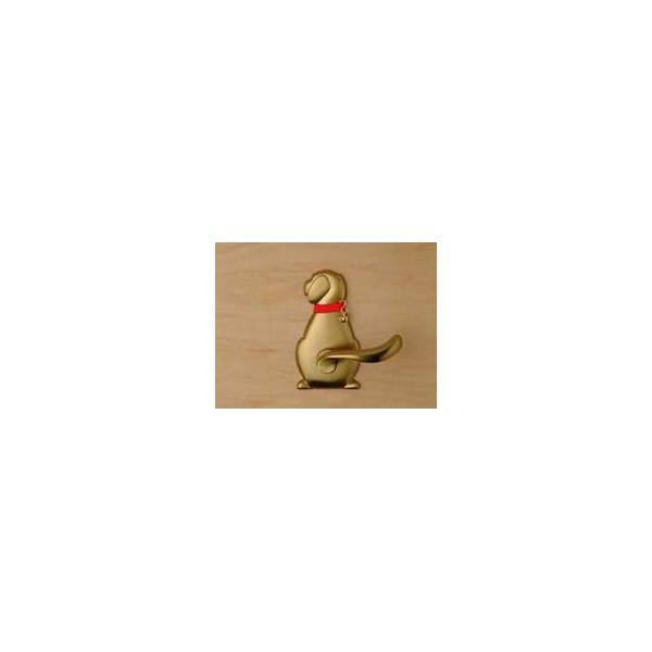 リフォーム用品 金物 錠前・鍵 トイレ用レバーハンドル錠:長沢製作所 わんにゃんレバーハンドル 空錠 犬 ホワイトブロンズ