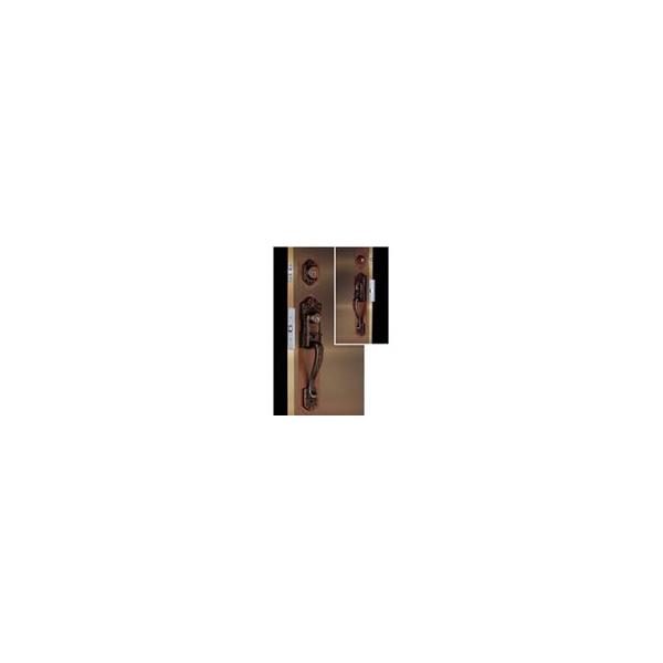 リフォーム用品 金物 錠前・鍵 サムラッチ錠:長沢製作所 古代ツーロック取替錠