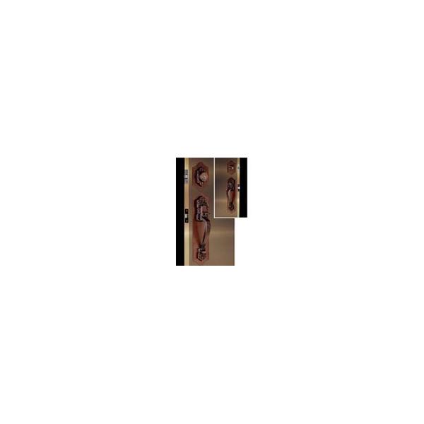 リフォーム用品 金物 錠前・鍵 サムラッチ錠:長沢製作所 古代セパレート取替錠